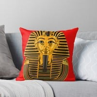 'The Mask of Tutankhamun' Throw Pillow by planetterra