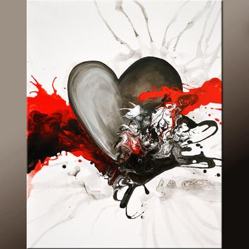 Abstract Art Print Contemporary Canvas Giclee by Destiny Womack dWo - With Every Heart Beat