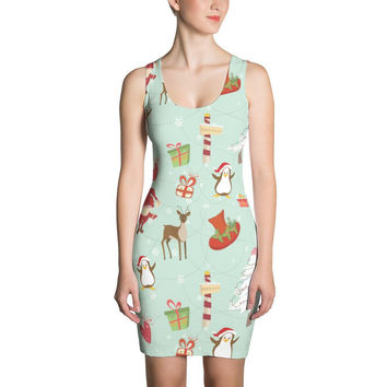 Elves and Animals Pattern Cut & Sew Dress