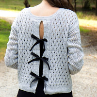 When I'm Gone Gray Sweater