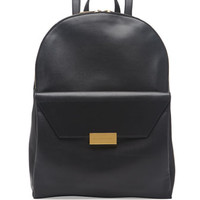 Stella McCartney Beckett Soft Faux-Leather Backpack, Black