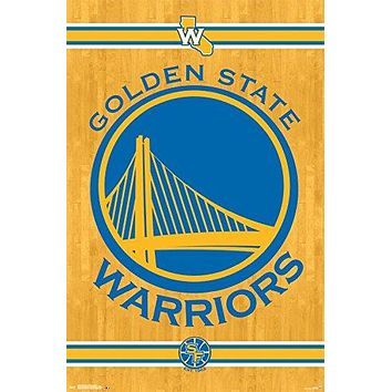 Golden State Warriors Icon Logo 22x34 Basketball Poster