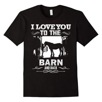 DCCKV2S To The Barn and Back Horse Lover Riding Gifts T Shirt Printed Summer Style Tees Male Harajuku Top Fitness Brand Clothing T-Shirt