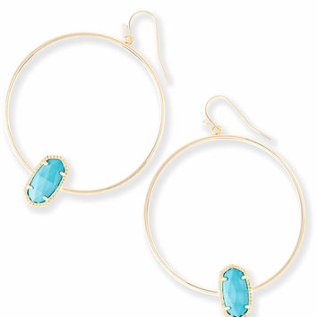 Elora Hoop Earrings in Turquoise | Kendra Scott Jewelry