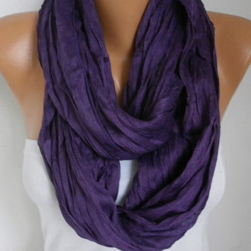 Spring Damson Cotton Infinity Scarf Mother's Day Gift Summer Scarf Cowl Circle Loop Oversized Gift Ideas For Her Women Fashion Accessories
