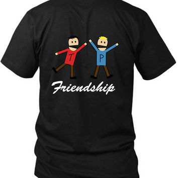 South Park Terrence Friendship 2 Sided Black Mens T Shirt
