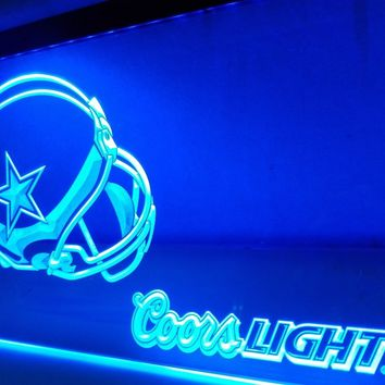LD458- Dallas Cowboys Helmet Coors   LED Neon Light Sign     home decor  crafts