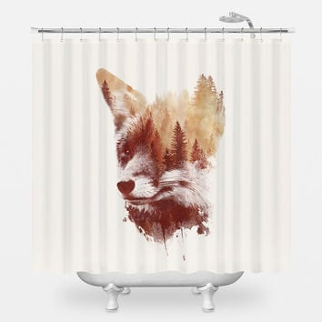 Blind Fox Shower Curtain