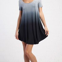 Smooth Ombre T-Shirt Dress - Navy Multi