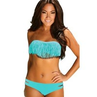 Sexy Women Fringe Tassel Padded Swimsuit Swimwear Collection