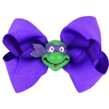Purple Ninja Turtle Bow, 2 1/4""