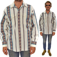 Vintage 90s Panhandle Slim Western Country Button Down Shirt Sz L