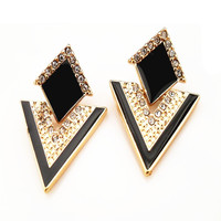 Fashion Accessories Jewelry Vintage Brand Crystal Stud Earrings For Women