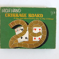 20% OFF SALE vintage High Hand Cribbage Game / Vintage Cribbage Board / complete