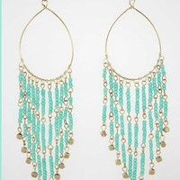 Trendy Clothing, Fashion Shoes, Women Accessories | Chandelier Earrings in Aqua  | LoveShoppingMiami.com