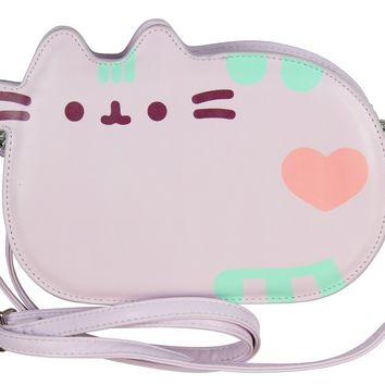 Pusheen The Cat Cross Body Purse Shoulder Bag - Purple Pastel
