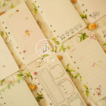 Dokibook Free shipping 2016 new monthly notebook papers  A6 pages planner filler agenda inside paper matching filofax kikkik