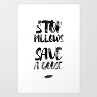stop pillows Art Print by Emilia Jesenska