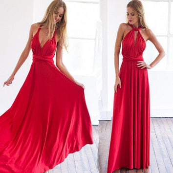 Autumn Prom Dress Dress Red One Piece Dress [4919725060]
