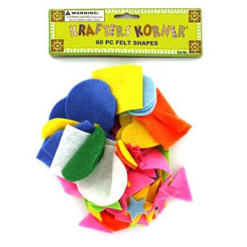 Craft Felt Shapes ( Case of 72 )