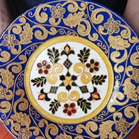 Decorative plate Inspired by Italy Glass painting