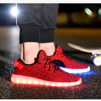 "Stylish ""Nike"" Yeezy Comfort Casual Lightning Shoes Multi-color Lights Sneakers [8848708295]"