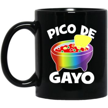 Pico De Gayo Gay Pride Coffee Mug by Living Gay | LGBT Coffee Mug, Gay Coffee Mug, Lesbian Coffee Mug