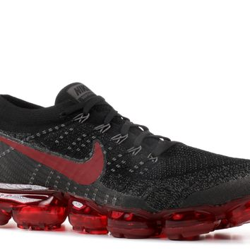 Nike Air Vapormax Flyknit Bred Black Dark Team Red 849558 013