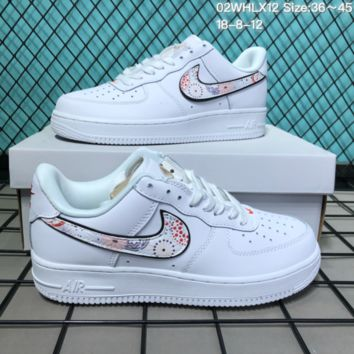 DCCK2 N276 Nike Air Force 1 CNY Low Fireworks Leather Skate Shoes White