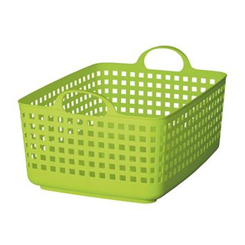 Like-it SCB-7 Plastic Laundry Basket, 9.96-Inch H by 13.98-Inch W by 17.91-Inch D, Green