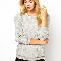 Vila | Vila Cable Knit Sweater at ASOS