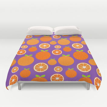 Orange Slices Duvet Cover by Ariel Lark