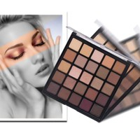 25 Colors Makeup Shimmer Matte Eyeshadow Palette Bronzed Palette Metallic Make Up Smoky Warm Eye Shadow