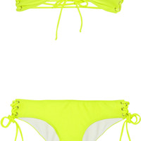 Shimmi Nicole lace-up bandeau bikini - 55% Off Now at THE OUTNET