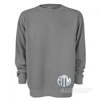 Monogrammed Comfort Colors Sweatshirts | Marleylilly