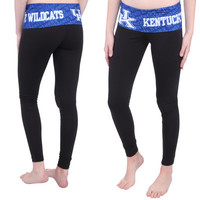 Women's Black Kentucky Wildcats Cameo Leggings