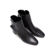 LEATHER ANKLE BOOT WITH ZIPS - Woman - New this week | ZARA United States