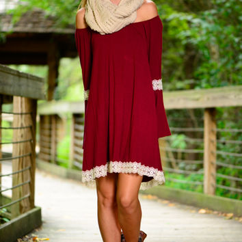 All You Want Dress, Burgundy