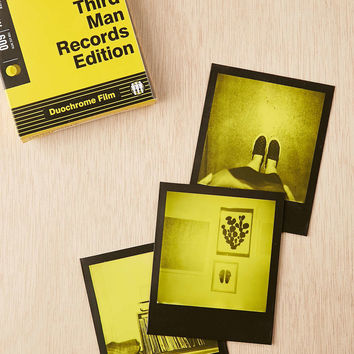 Impossible Third Man Record Edition Black And Yellow Polaroid 600 Instant Film - Urban Outfitters