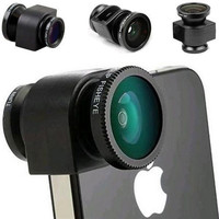 3 in 1 Camera Set Fish Eye Wide Angle Macro Lens Film For IPhone 5s 5c 6s 7 7 6 Plus Gift