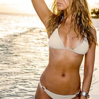 Sauvage Swimwear Martinique Creme Bikini | Triangle Top Bikini Set