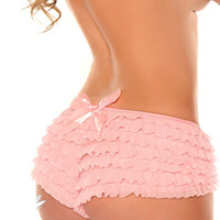 Pink Ruffle Panty with Bow