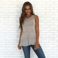 Soft Sands Taupe Knot Top