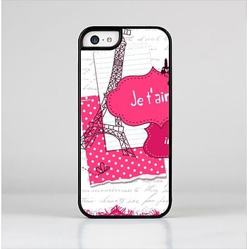 The Paris Pink Illustration Skin-Sert Case for the Apple iPhone 5c