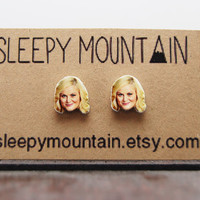 Leslie Knope Studs - Parks and Recreation Earrings