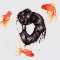 Hair Sequel II Art Print by The White Deer | Society6