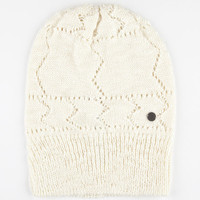 Roxy Out To Sea Beanie Ivory One Size For Women 24780216001