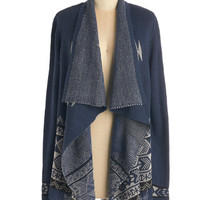 ModCloth Long Long Sleeve Tea at Twilight Cardigan