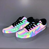 NIKE Air Force 1 New  Fashion Noctilucous Personality Couple Sports Leisure Shoes