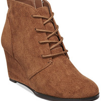 American Rag Baylie Lace-Up Wedge Booties, Only at Macy's | macys.com